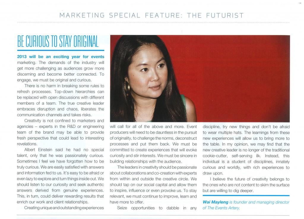Mktg Magazine Dec 2012 article
