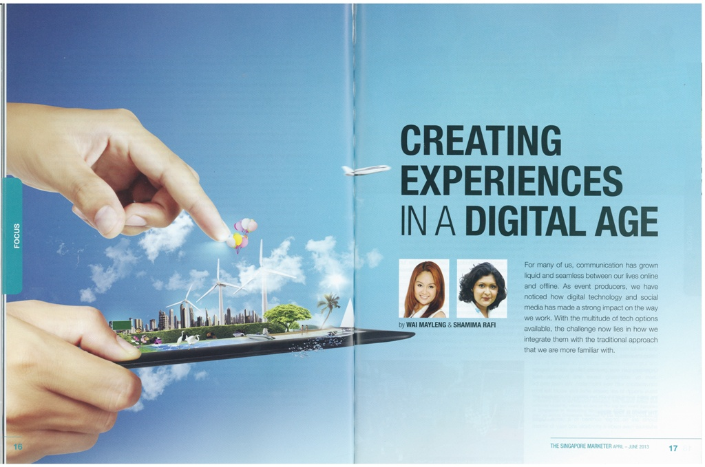 S'poreMarketer-AprJun2013-CreatingExperiencesInADigitalAge-Pg1