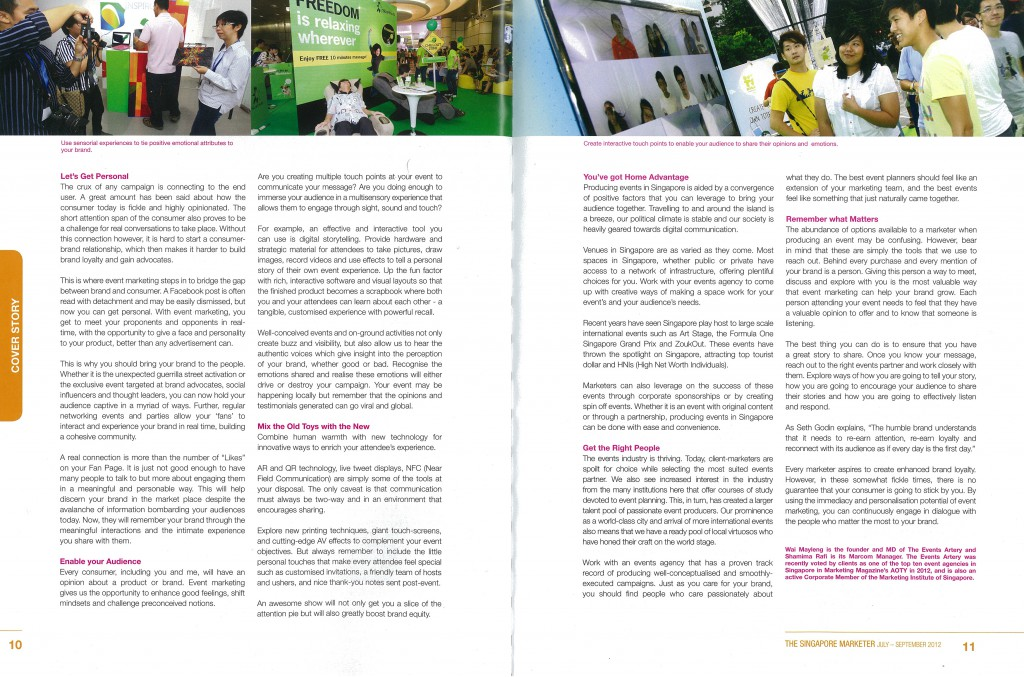 Tell Your Story With Event Marketing Pg3&4